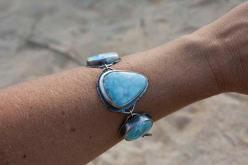 Feral Blue Larimar Link Bracelet