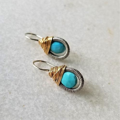 Austin Titus Studio Mini Turquoise Earrings