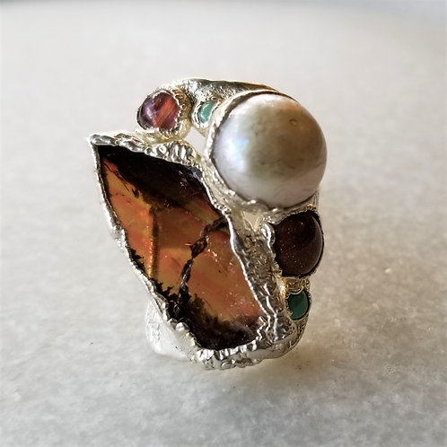C&R Designs One of Kind Fine Silver Ring