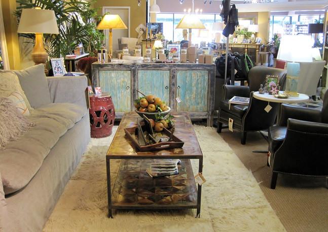 C3681 Sofa & 1347-01 Chairs, ClubCu Cabinet