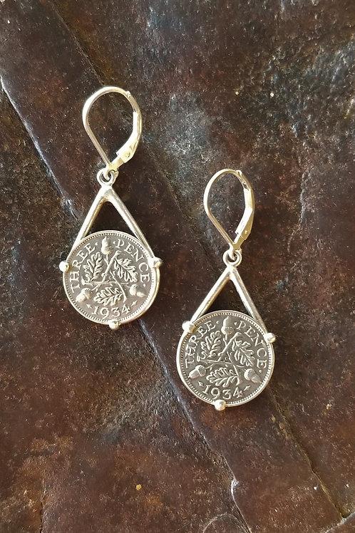 Karen Wright Jewelry Three Pence Drop Earrings