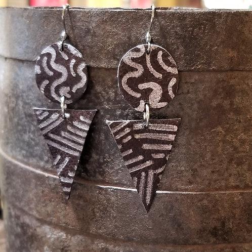 Betty Lou Leather Earrings