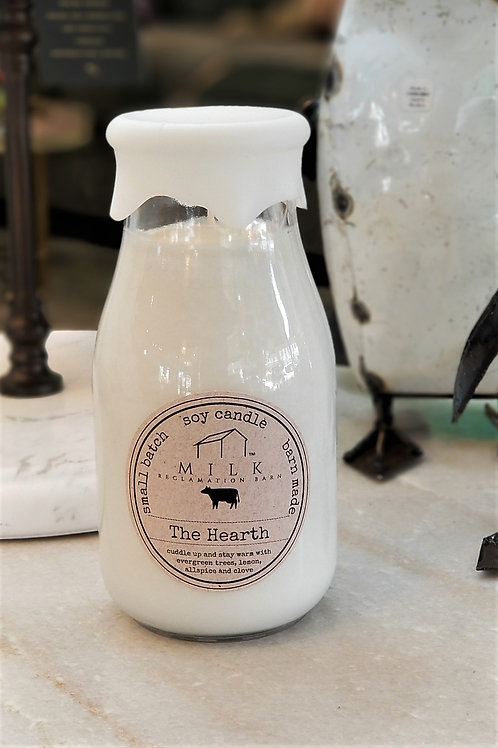 Milk Reclamation Barn The Hearth Milk Bottle Candle