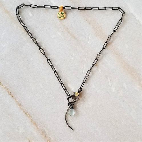 Luna Mar Oxidized Pave Diamond Necklace