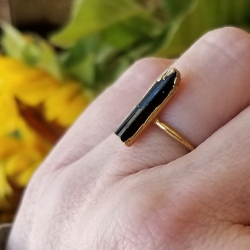 C&R Designs Tourmaline Gold Plated Ring size 7