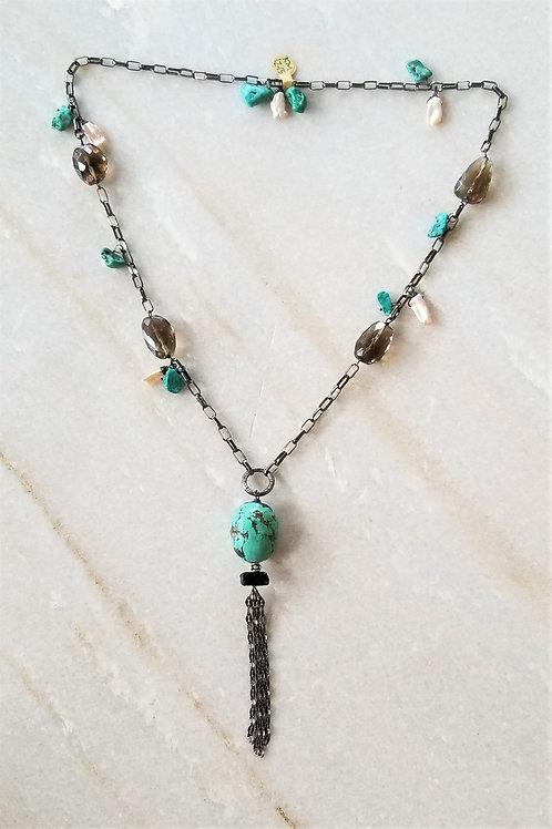 Luna Mar Large Turquoise Drop Necklace