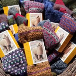 Patterned Alpaca Socks