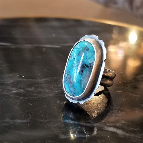 Feral Blue Blue Moon Turquoise Ring size 7