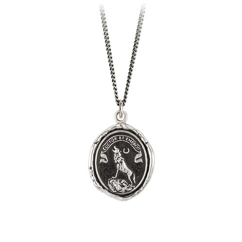 Pyrrha Sterling Silver Struggle and Emerge Talisman Necklace 18""