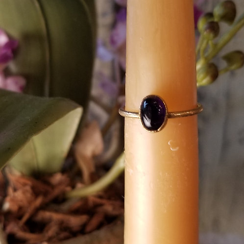 C & R Design Amethyst Gold Plated Ring