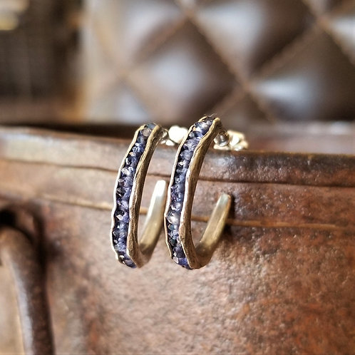 Austin Titus Studio Iolite Hoop Earrings