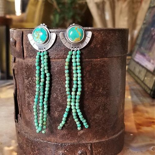 Feral Blue Kingman Turquoise Earrings