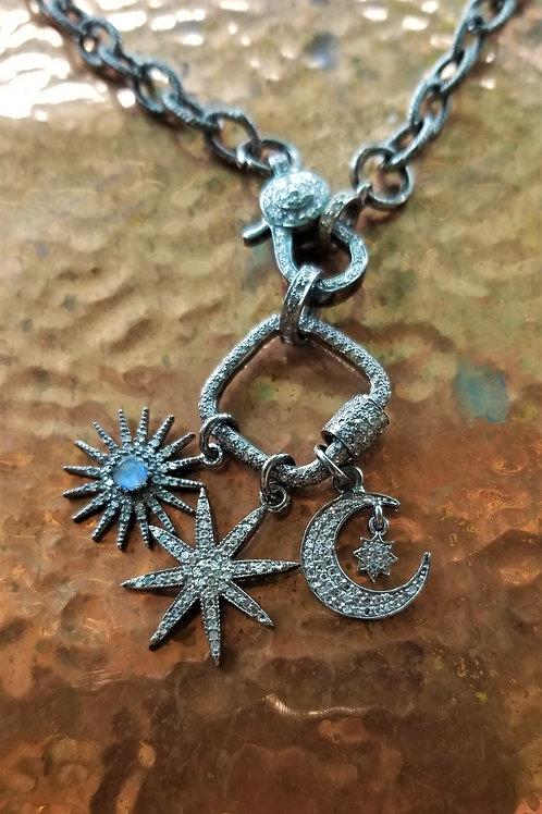 Barrio 59 Pave Diamond Necklace