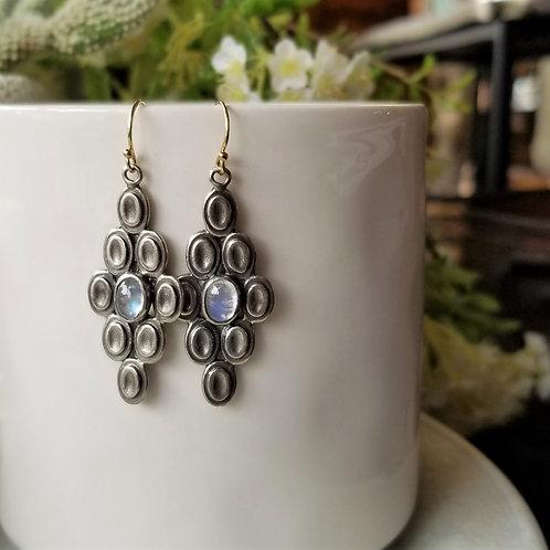 Austin Titus Studio Silver Moonstone Earrings