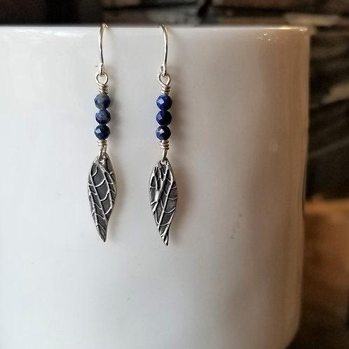 Texture & Tarnish Lapis Threader Earrings