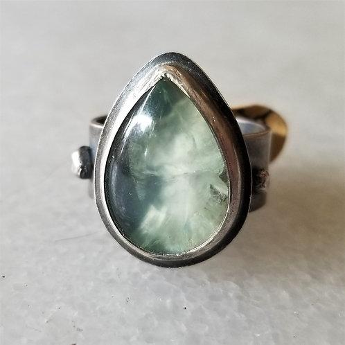 Feral Blue Prehnite Teardrop Ring