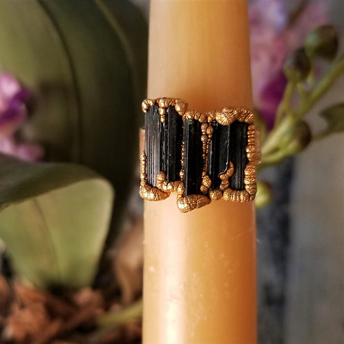 C & R Designs Tourmaline Gold Plated Ring