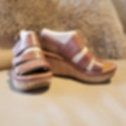 Bussola Style Tate Sandal in Gobba Paper leather plaltform sandal