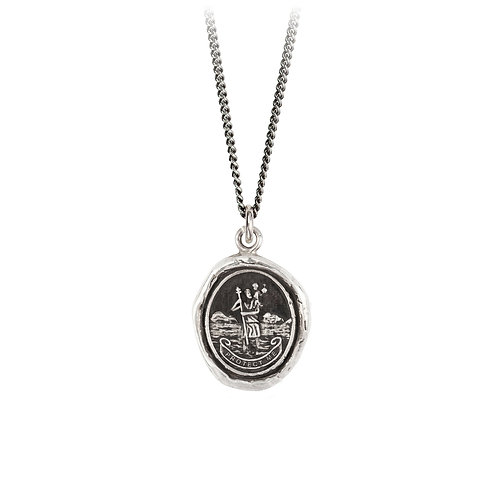Pyrrha Sterling Silver St. Christopher Talisman Necklace 16""