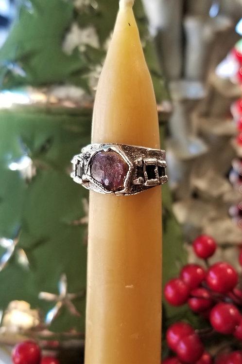 C & R Designs Tourmaline and Fine Silver Ring
