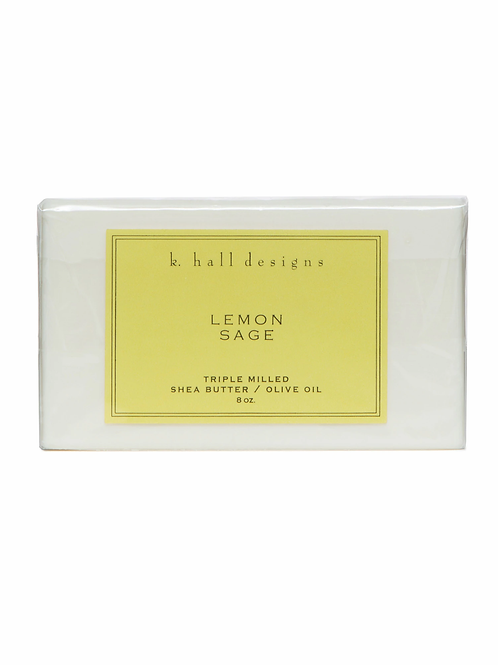 K Hall Studio Lemon Sage Bar Soap
