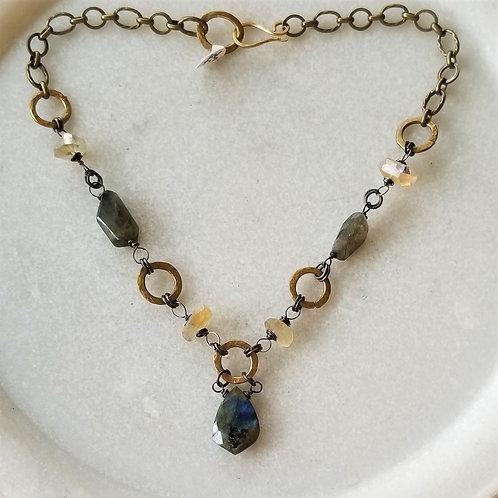 Joy of Wings Labradorite & Citrine Necklace