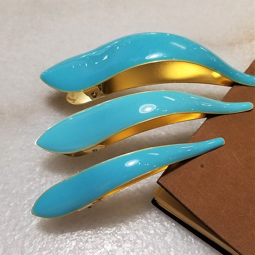 Ficcare Picasso Hair Clip in Robin Blue
