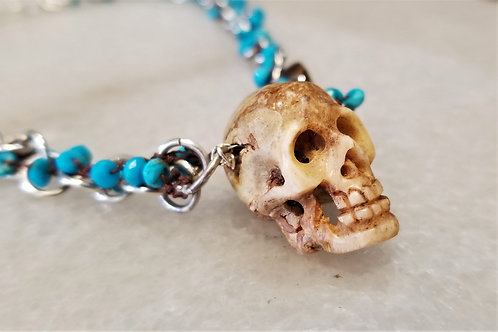 ObscurO Turquoise Skull Necklace