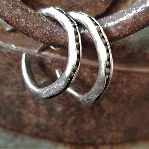Austin Titus Studio Pyrite Hoop Earrings