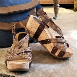 Fida in Zar Brown / Woven Brown by Bussola Style $104