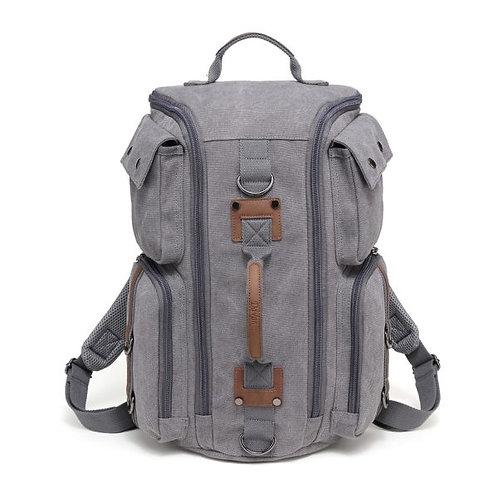 DaVan Multifunctional Canvas Duffel Bag- Grey