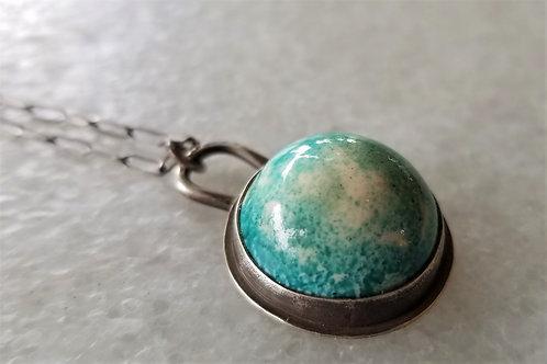 Feral Blue Enamel Orb Necklace
