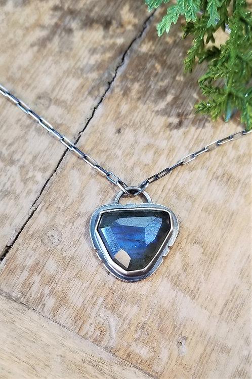 Feral Blue Sterling Labradorite Necklace
