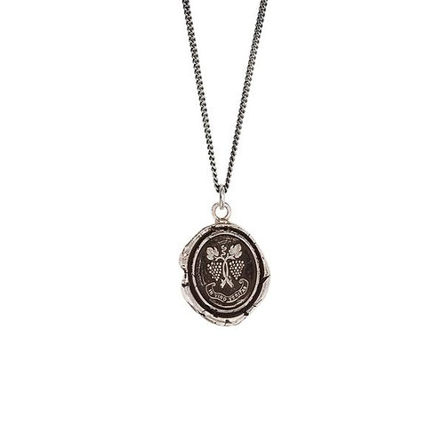 Pyrrha In Wine There Is Truth Sterling Silver Talisman Necklace