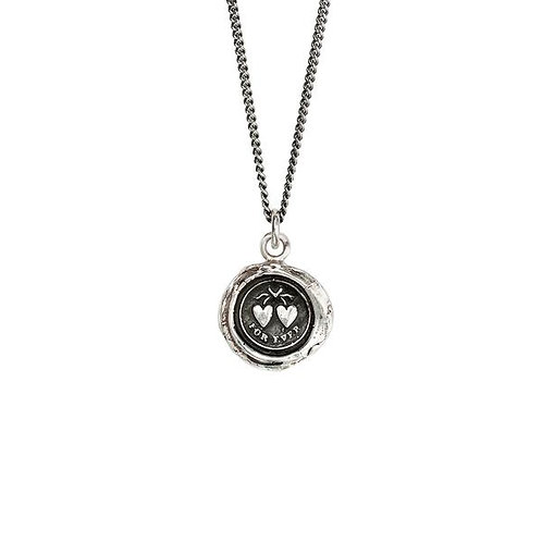 Pyrrha Hearts Sterling Silver Talisman Necklace