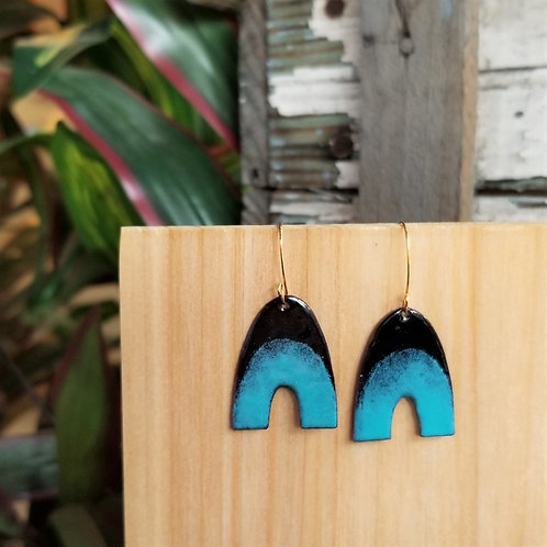 Sam Made Goodies Black/Sapphire Rainbow Earrings