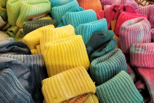 KBennerDesigns Hand dyed Bamboo Socks