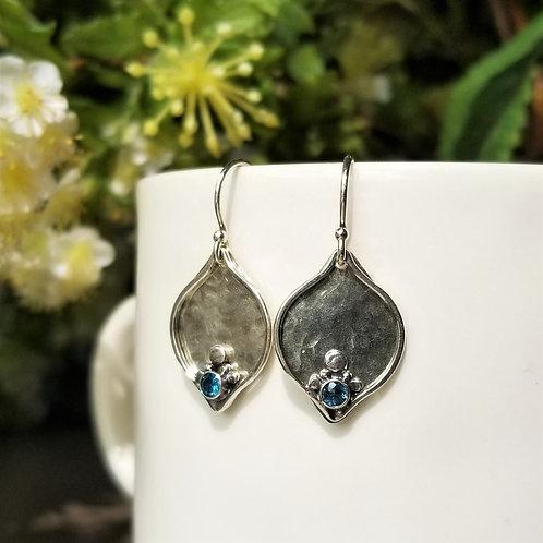 Austin Titus Studio London Blue Topaz Plum Earrings