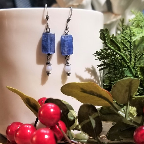 Amy's Accessories Kyanite and Agate Earrings