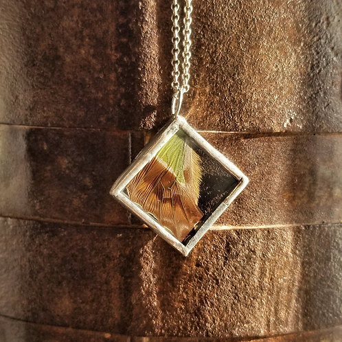 Wendy Padgett Designs Small Square Wing Necklace