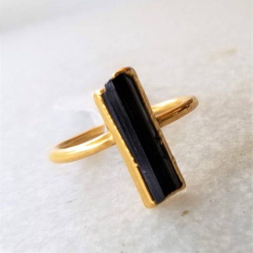 C&R Designs Gold Plated Tourmaline Ring