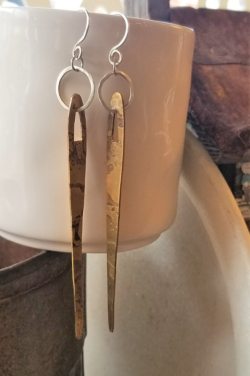 ObscurO Jewelry Brass and Silver Earrings