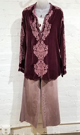 Johnny Was Embroidered Velvet Top, Wash Lab Jeans, Austin Titus Studio Necklace