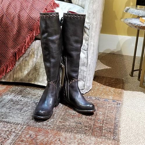 BedStu Manchester III Tall Boot- Black Rustic