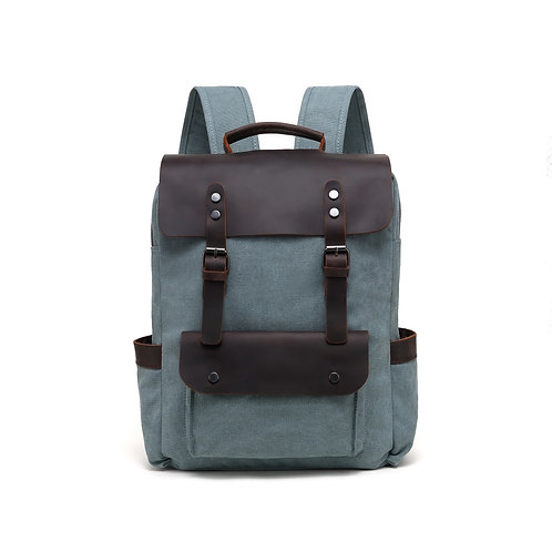 Davan Turquoise Canvas Backpack