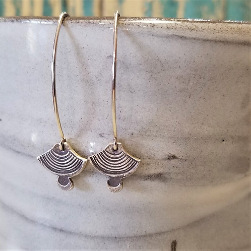Texture & Tarnish Art Deco Dangle Earrings