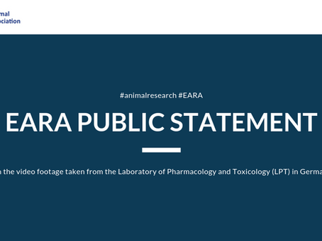 Statement by EARA on video footage taken from the Laboratory of Pharmacology and Toxicology (LPT)