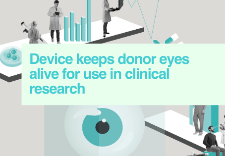 Extending life of donor eyes