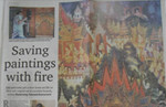 Saving paintings with fire