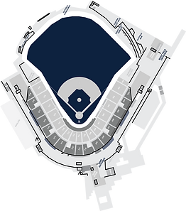 Stadium Layout with GMS main playing field highlighted